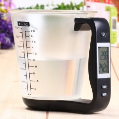 Hostweigh NS- C01 LCD Kitchen Digital Scale Measuring Cup Large Volume Coffee Tea Weighing Device as the picture