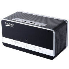 MUSKY DY - 27 Portable Multifunctional Bluetooth Speaker with LED Display Clock Alarm FM Radio black 5W*2 DY 27