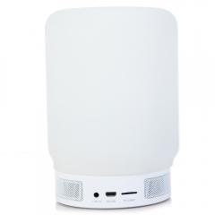 BQ - 628 Wireless Speakers Bluetooth Speaker V4.0 With Lamp Colorful Picker LCD Alarm Clock white 3w BQ - 628