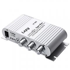 LP - 808 Lepy 12V MINI HIFI Super Bass Amplifier Portable Speaker Loudspeaker Support Volume Control