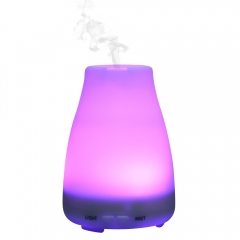 100ML Ultrasonic Humidifier Clear Bottle LED Light 7 Color Change Air Humidifier Essential Oil Aroma