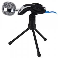 SF-922B USB 2.0 Portable Condenser Microphone Mic Studio Audio Sound With Desktop Stand Microfone black one size none