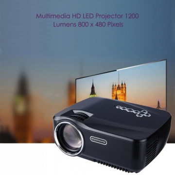 GP - 70UP Android 4.4 Full HD 1200 Lumens Mini LCD Projector Home Theater Support Bluetooth DLNA black one size