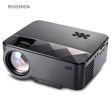 RUISHIDA Portable 1500 Lumens Home LCD Projector black UK Plug
