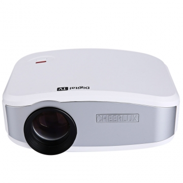 Cheerlux C6 LCD Projector 1200 Lumens 800 x 480 Pixels 1080P white uk plug