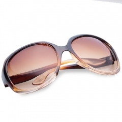 Chic Solid Color Big Frame Sunglasses For Women Tea Colored One Size