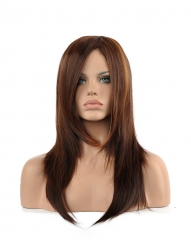 Women's Fashion Synthetic Hair Hot-Sale Long Straight Wig in Brown Brown 70cm