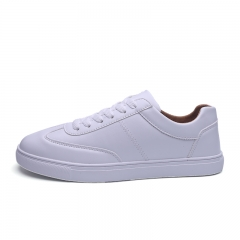 Women Lace-Up Casual Shoes Sneakers White 3.5