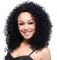 AGAPEON Synthetic Medium Curly Wig for Women Heat Resistant Fiber Wigs black medium curly wig