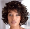 AGAPEON Synthetic Short Curly Wig for Women Heat Resistant Fiber Wigs black brown short curly wig