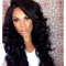 AGAPEON Synthetic Long Curly Wig for Women Heat Resistant Fiber Wigs black long curly wig