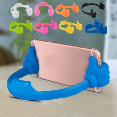 Universal OK Thumb Mount Flexible Stand Holder For Mobile Phone iPhone4/5/6 iPad Samsung black One size