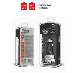 Miniso LED Display Dual Fast Car Charger Black