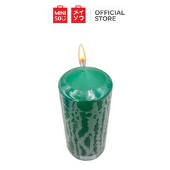 Miniso Candles with Large Size Green Large one size