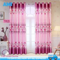 AMI 1 Panel Curtains For Home Window Curtains Rose Quality Fabric Bedroom Living Room With Gift Pink 107cm(L)*213cm(H)