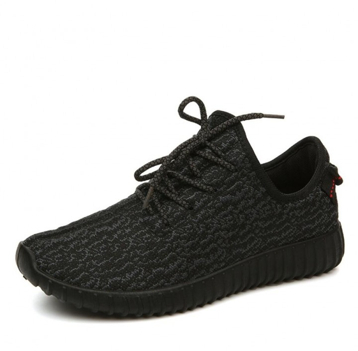 SWISSANT® Yeezy Boost 350 Sneakers Sports Leisure Fitness Running Trainers  Mens Womens Unisex All Black 45408805bc