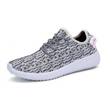 SWISSANT® Yeezy Boost 350 Sneakers Sports Leisure Fitness Running Trainers Mens Womens Unisex Grey UK7