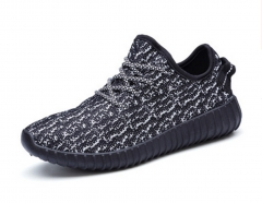 SWISSANT® Yeezy Boost 350 Sneakers Sports Leisure Fitness Running Trainers Mens Womens Unisex Black UK7