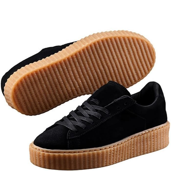 new concept cbabf c078d Rihanna Suede Creepers Casual Shoes Woman SWISSANT® black US7