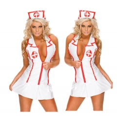 Women's Sexy Nurse Uniforme Cosplay Costume Set SWISSANT® white one size