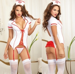 Women Night Nurse Sexy Bedroom Cosplay Costume Sexy Lingerie SWISSANT® white one size