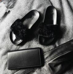 Hot Sale Grils Flat Slippers Leisure Sandals Comfortable Spring SWISSANT® black 39