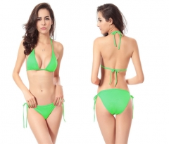Women Swimwear Bikini Set Bathing Suits With Cross Halter Strap Beachwear Swimsuit SWISSANT® green s