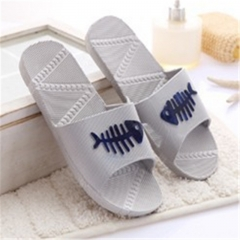 Men&Women Fish Home Slippers Summer Home Interior Shoes Bathroom Shoes Couple Shoes SWISSANT® gray uk6.5