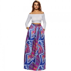 Dearlovers Women African Floral Print Casual A Line Maxi Skirt  African Traditional Dress SWISSANT® Multicolored 01 M
