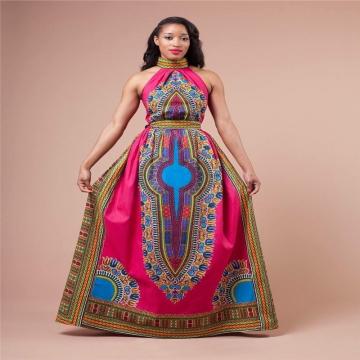 Women's Fashion African Print Halter A-line Maxi Dress Plus Size SWISSANT® as picture xl