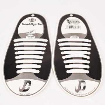 Set/16pcs New Novelty No Tie Shoelaces Elastic Silicone Shoe Lace Unisex white one size