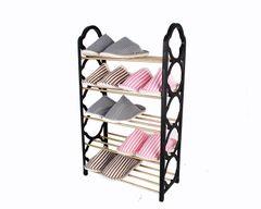 (Color random)Simple five layers plastic shoe rack multilayer shelf for daily use shoe rack random 71*42*18.5