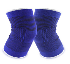 1 pair of knee pads wrapped with bandages to support and protect pain relief Blue one size
