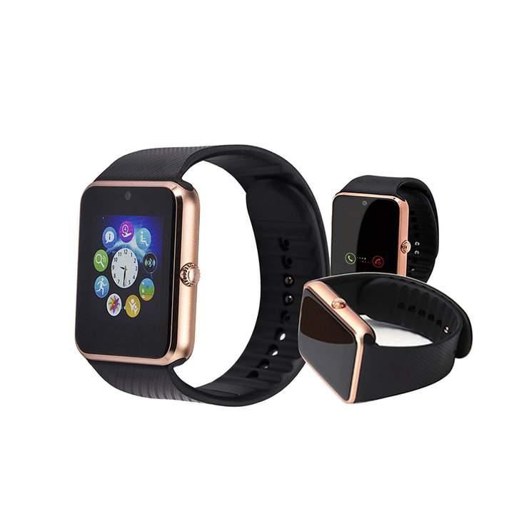 "1.54"" GT08 Bluetooth Smart Watch NFC Wrist Phone Mate For Smartphone Black&Gold 27cm"