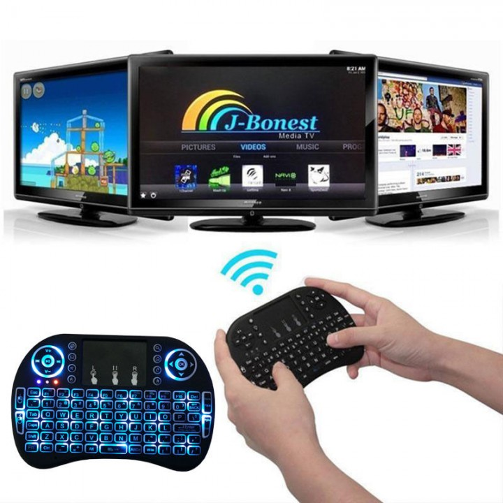 Mini i8 Gaming Keyboard Wireless Backlit Touchpad Air Mouse for PC/Ipad/TV Box DEFAULT 20cm x12cm x 5cm