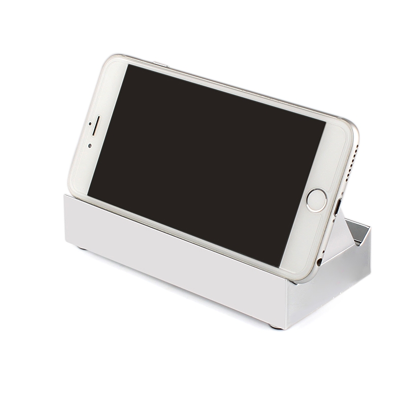 New Intelligent Wireless Bluetooth LED Ambient Light Sensor Speaker Mini  Cell Phone Holder Subwoofer Silver DEFASULT