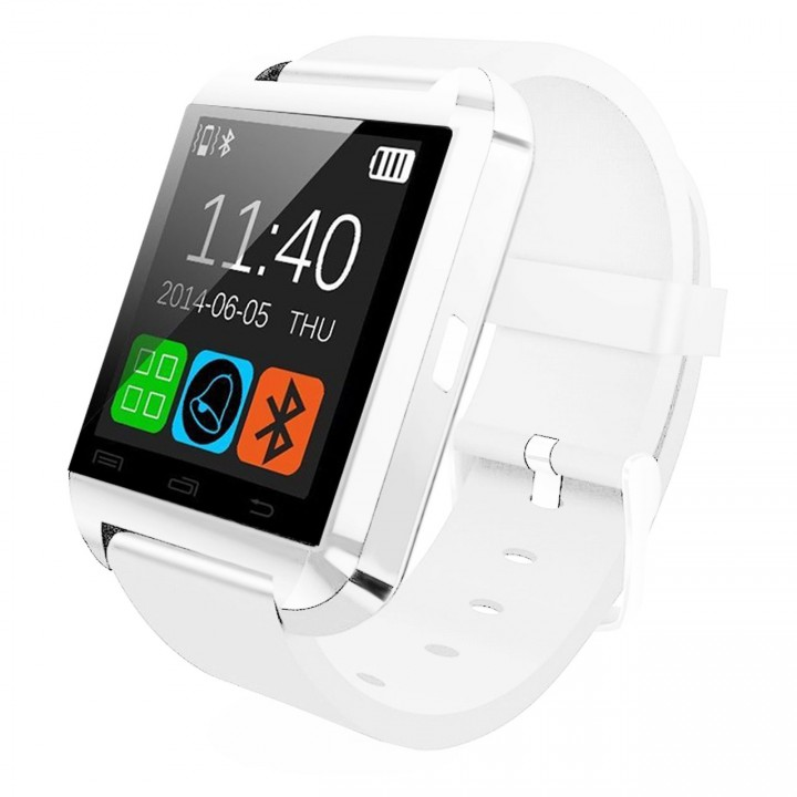 U8 Bluetooth Smart Wrist Watch Phone Mate For IOS Android iPhone Samsung HTC LG White Normal