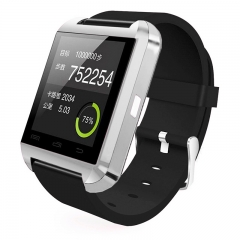 U8 Bluetooth Smart Wrist Watch Phone Mate For IOS Android iPhone Samsung HTC LG Silver Normal
