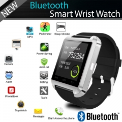 DZ09 Bluetooth Smart Wrist Watch Phone Mate For Android & IOS iPhone Samsung LG Silver Normal