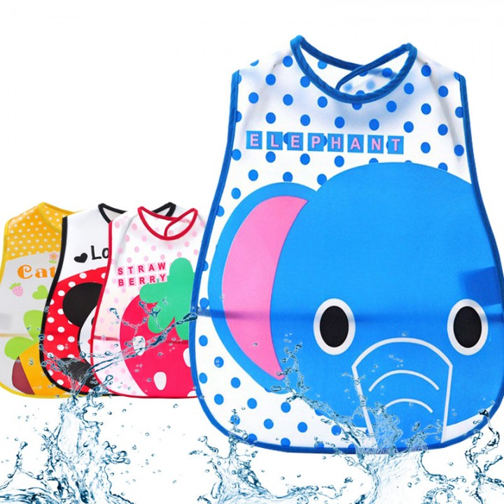 5 PCS /lot Cute Patterns Cartoon Baby Soft Bibs Waterproof Cartoon Bib Burp For Boys
