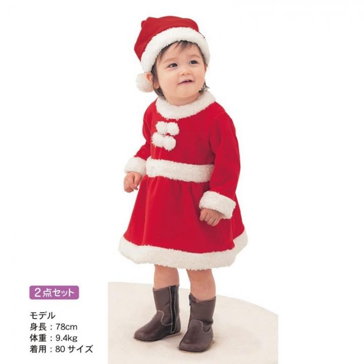 4ef1b6b2ab5b newborn boys girls Christmas Santa Claus fleece lining romper + hat ...