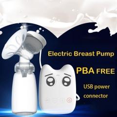 breast pumps USB electric baby BPA Free Postpartum Breast feeding Breast milk suckersbreast pump white one size
