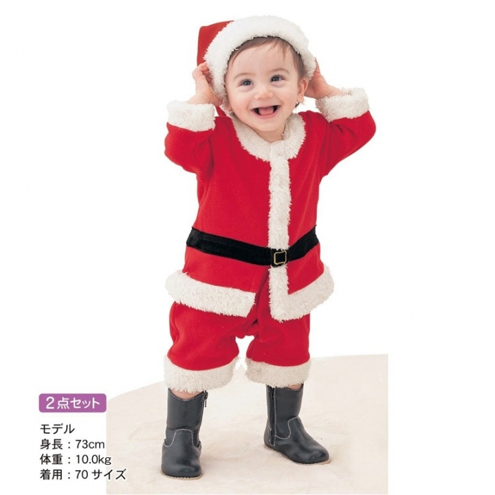 adf227270073 baby romper boys girls Christmas Santa Claus bebe fleece lining ...