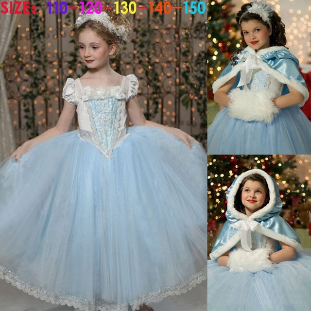 9abc3bc0b2d88 Anna Elsa Cosplay Princess Dresses Kids Party Dresses Costume Toddler  Children Clothes as picture 130