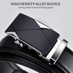 125cm Men Belt  Strap Belts For Men Top Quality Automatic Buckle black Belts BLACK 125CM