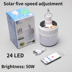 Indoor Emergency Night Light Solar USB Rechargeable Light Outdoor Lamp Handheld Lantern Flashlight White 13cm 5W