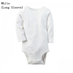 Newborn Baby Clothes White Cotton Infant Romper Long Sleeve Baby Boys/Girls Clothing White 0.3m