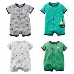 Carters Newborn Baby Boy Clothes 100% Cotton Infant Romper Short Sleeve Baby Romper Jumpsuit green 0-6m