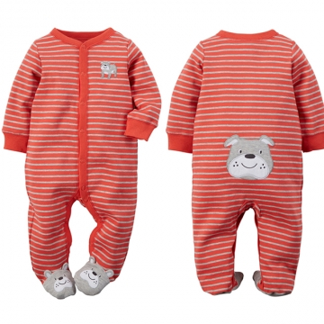 Carters Newborn Baby Boy Clothes 100% Cotton Infant Romper Long Sleeve Baby Girl Romper Jumpsuit blue 0-6m