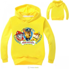 Fashion Cotton Long Sleeve Sweatshirts Zipper Coat Printed Kids Jackets Hooded Children's Clothing yellow 4t